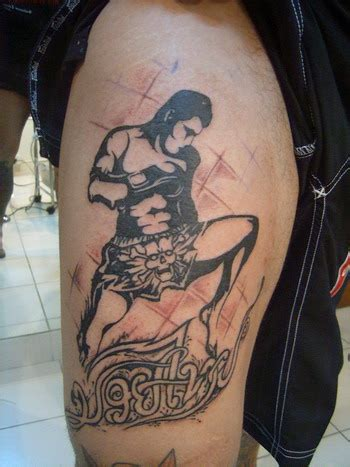 muay thai tattoos grand muay thai fighter shaped on shoulder tattoomagz