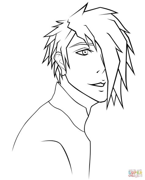 Anime Guy Coloring Pages Vitlt Com | anime guy coloring pages vitlt com