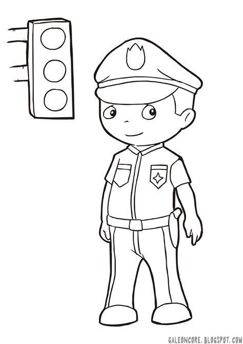 Upin Ipin Mengenal Olahraga 9 mewarnai gambar polisi