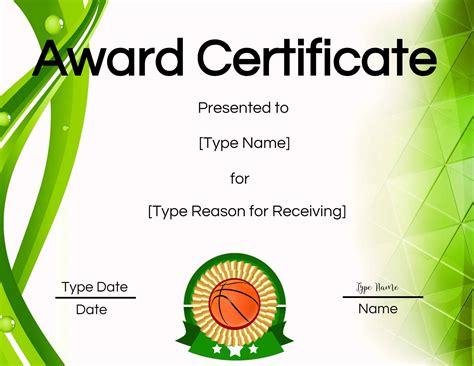 printable basketball certificates edit