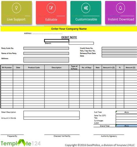 Debit Credit Excel Template