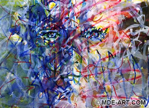 expressive abstract expressive abstract drawings and paintings of colorful faces