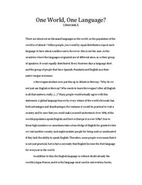 As A Global Language Essay by A Global Language Essay Studienett No