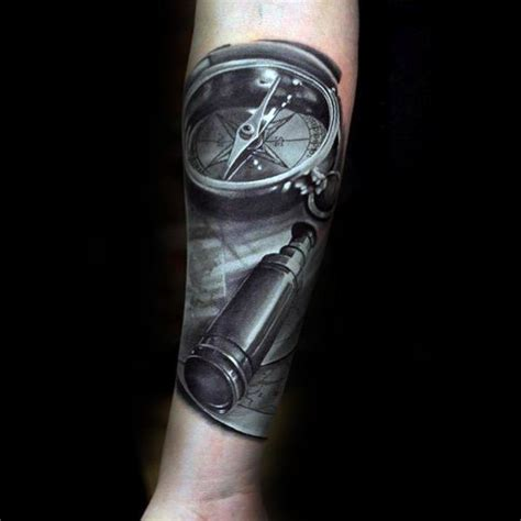 telescope tattoo 40 telescope designs for stargazing ink ideas