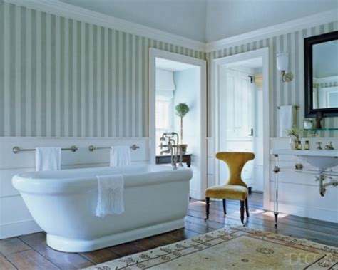 Bathroom Wallpaper Stripes by Tapeten Ideen Im Bad 21 Ausgefallene Und Stilvolle