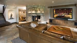 Splendid Tv Credenza Decorating Ideas For Basement Rustic