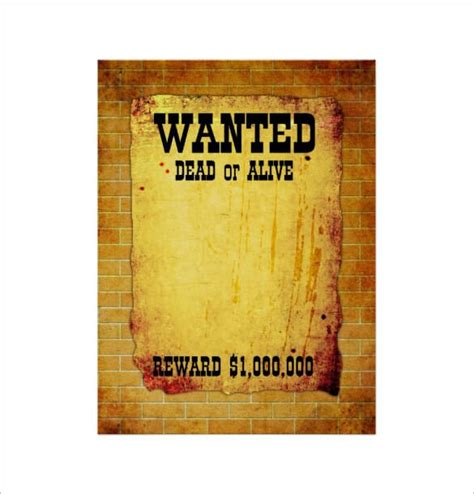 free downloadable poster templates wanted poster templates word templates docs