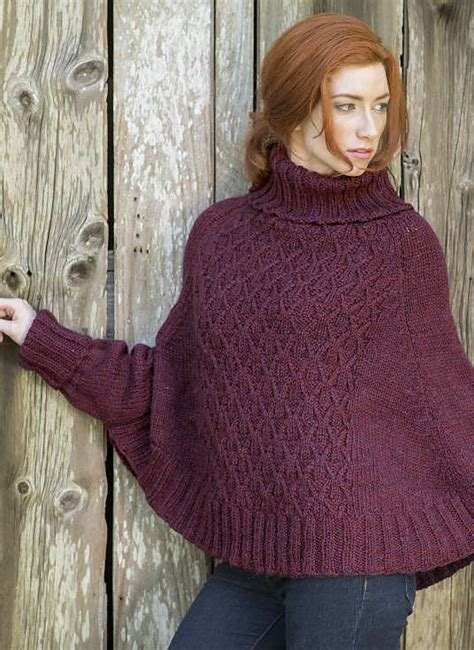 knitting pattern poncho with sleeves sleeved poncho knitting patterns in the loop knitting