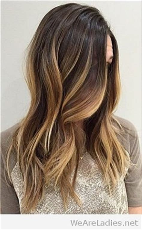 straight sholder length ombre hair medium length straight brunette ombre hair look