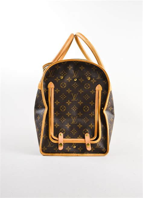 louis vuitton coated canvas monogram dog carrier