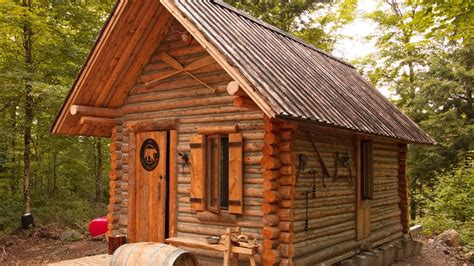 Cabin In The Woods Free by Log Cabin Timelapse Built By One In The Forest