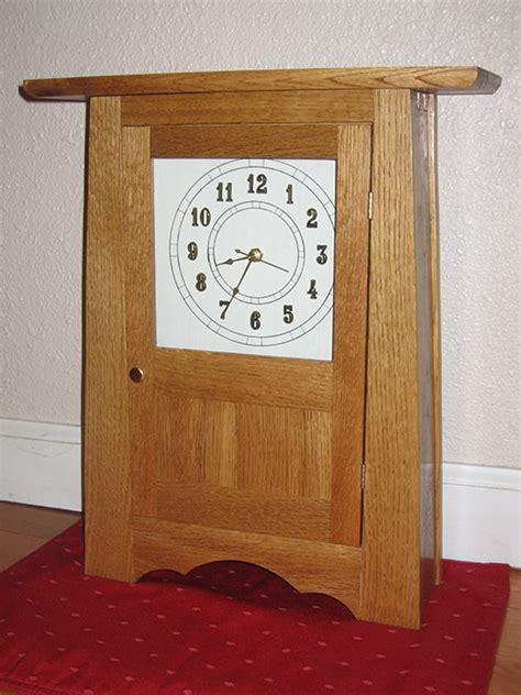 craftsman clock woodworking blog  plans