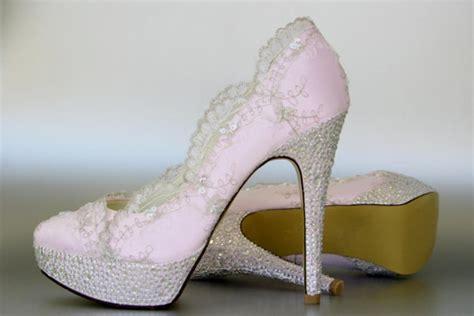 wedding shoes paradise pink platform wedding shoes with