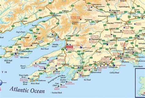 county cork ireland map atlantic way guide to west cork