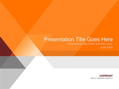 Presentations Templates orange and gray presentation template in photoshop psd