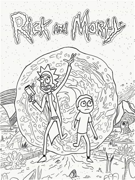 rick and morty coloring book for adults version 2 reloaded books welcome r m fanart rick and morty amino