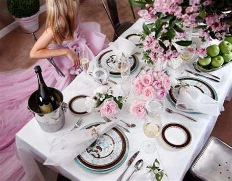 beautiful table settings green and brown marchesa china collection by lenox marchesa table