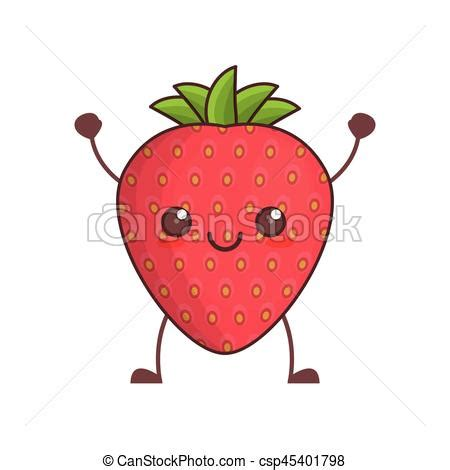imagenes de fresas kawaii kawaii fresa imagen fruta kawaii 10 imagen eps