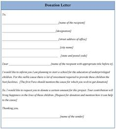 Contribution Letter Template Letter Template For Donation Example Of Donation Letter