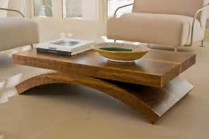 Wooden Living Room Table Interesting Wooden Living Room Wood Coffee Table With Arch