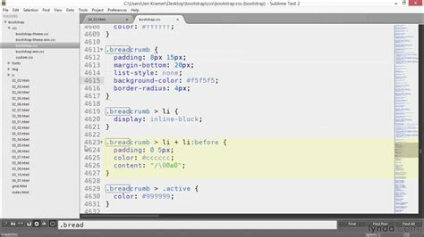 bootstrap tutorial lynda kickass bootstrap 3 tutorial implementing location breadcrumbs