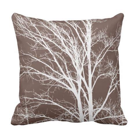 Tree Pillow by White Tree Branches Throw Pillow Zazzle