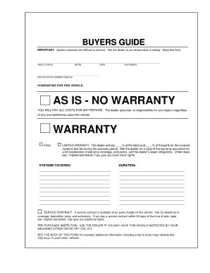 buyers guide fill online printable fillable blank
