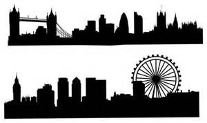 London skyline silhouette wall decal black contemporary wall