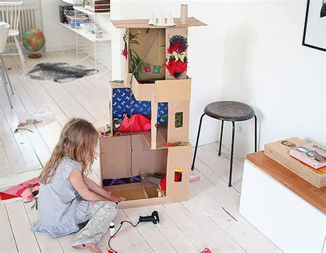 how to make a cardboard doll house 6 ways to make a cardboard dollhouse handmade charlotte
