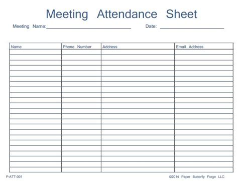 46 Best Attendance Sheet Template Exles For Classroom And Meeting Thogati Board Roster Template