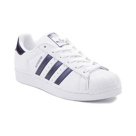 womens adidas superstar athletic shoe whitepurple metallic 436506