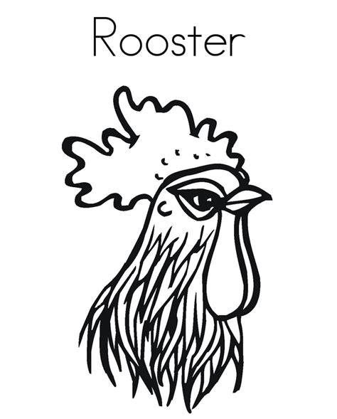 rooster head coloring page rooster head farm animal coloring pages animal coloring