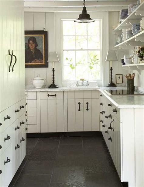 cute cottage kitchen  black  white  bill litchfield
