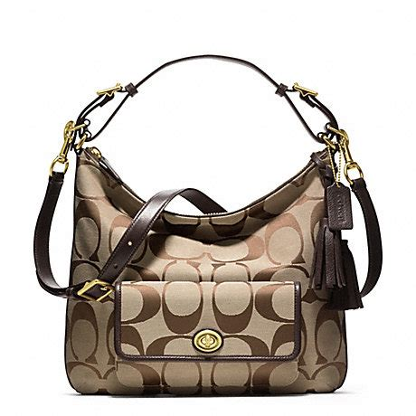 Tas Coach Hobo 3029 signature courtenay hobo f22392 brass khaki mahogany coach handbags shoulder bags