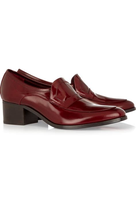 lanvin loafers lanvin patent leather loafers in brown lyst