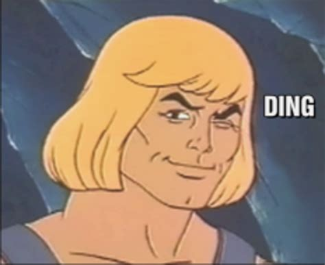 Wink Face Meme - he man wink ding he man sings know your meme