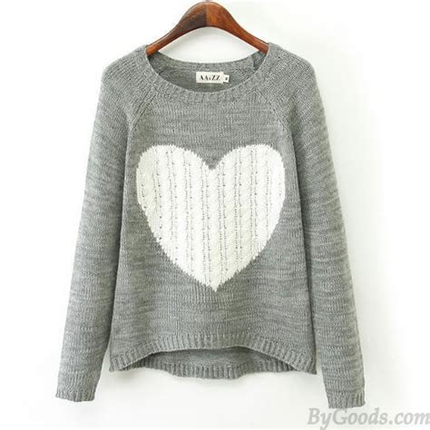 heart pattern sweater heart pattern irregular cut knit cardigan sweater