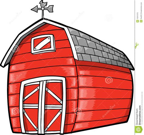 scheune comic barn vector illustration stock photo image 10241370