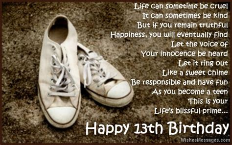 13 Year Birthday Quotes Happy 13th Birthday Son Quotes Quotesgram