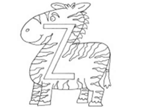 Z Zebra Coloring Page by Alphabet Coloring Pages