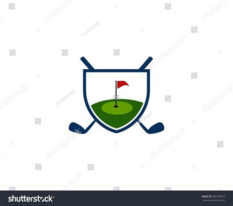 gulf logo vector golf logo stock vector 506773810
