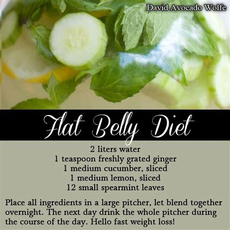 Flat Belly Diet Detox Menu by Flat Belly Diet On The River 2009