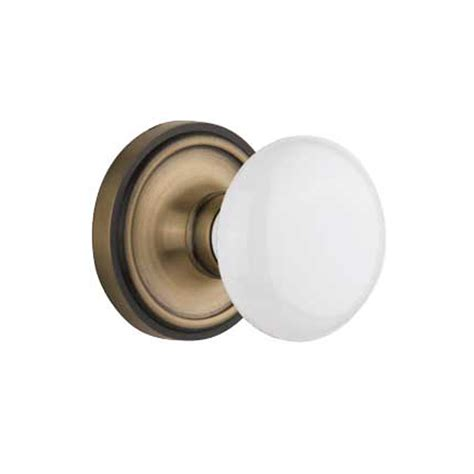 Porcelain Door Knob Sets by Complete Door Hardware Set With Classic Rosette With White