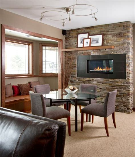 Dining Room Near Fireplace Dining Room Fireplace Ideas For Winter Nights