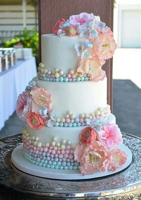 Edible Garden Cake Decorations 18 Pastel Wedding Cake Ideas For 2016 Spring