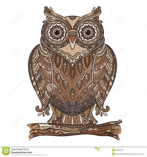 decorative owls decorative owls vector illustration of beautiful