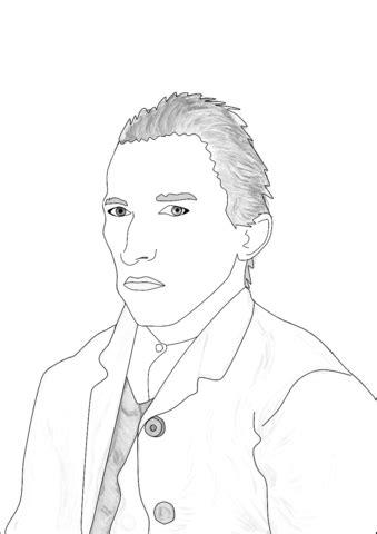 Dibujo de Autorretrato de Van Gogh para colorear | Dibujos