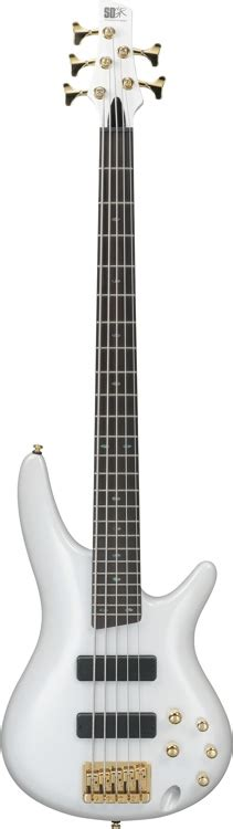 Pearl String 05 ibanez sr535 5 string pearl white sweetwater