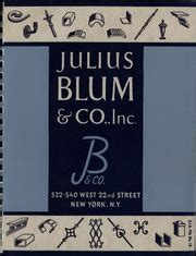 catalog no 5 julius blum co inc julius blum and