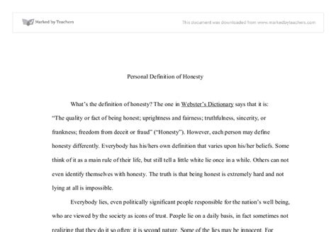 Integrity Definition Essay by Integrity Definition Essay